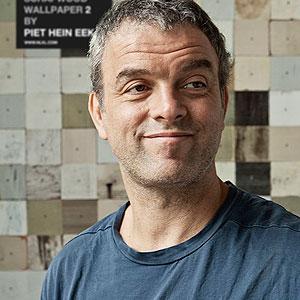 Exclusief behang van Piet Hein Eek bij ABC Badkamers