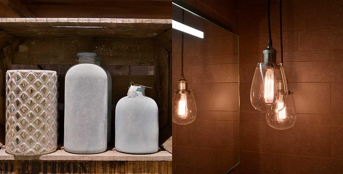 accessoires, woon, verlichting, badkamer, sfeer