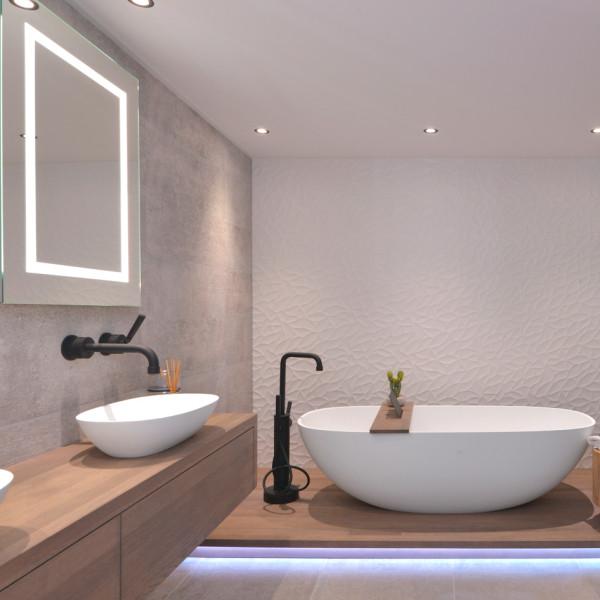 Een luxe en moderne badkamer