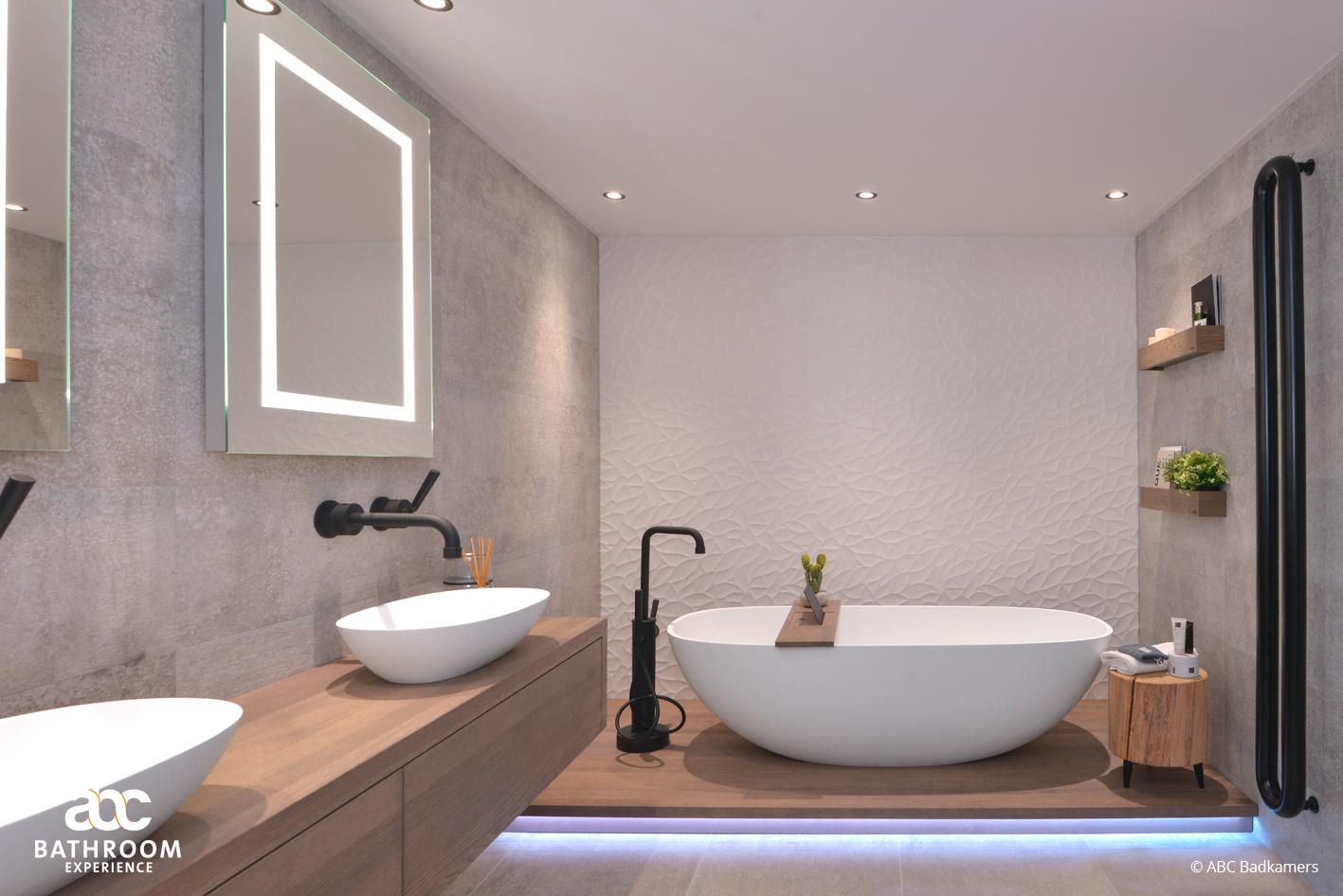Een luxe en moderne badkamer -